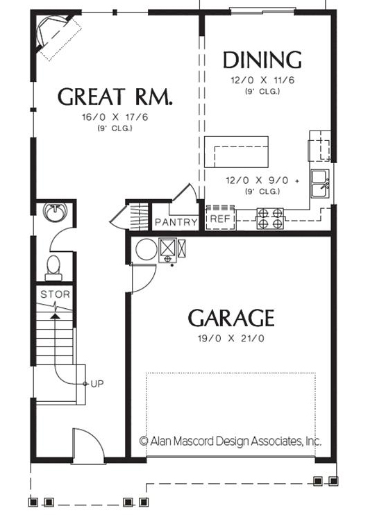 MELLVILLE- floor plan main floor
